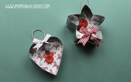 adornos navideños fáciles con material reciclado