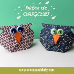 Cómo hacer un Búho de origami de otoño