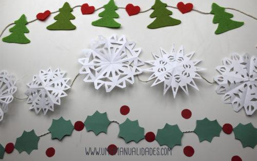 como hacer guirnaldas de navidad