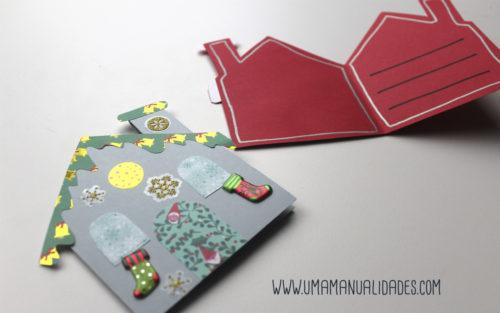 como hacer tarjetas navideñas de scrapbook paso a paso