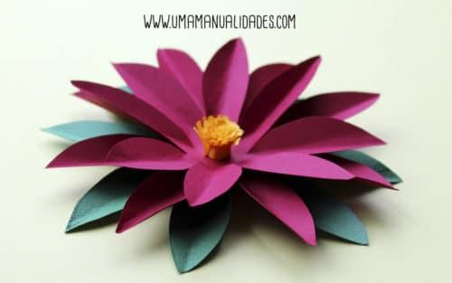 flor de papel de pascua paso a paso