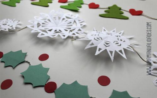guirnaldas navideñas paso a paso