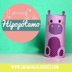 Cómo hacer Manualidades de hipopótamos
