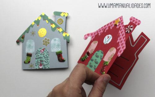 postales navideñas con papel paso a paso