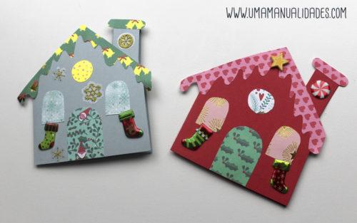 tarjetas de navidad con papel
