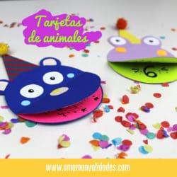 Cómo hacer tarjetas de animales para cumpleaños