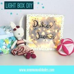 Caja de luz para decorar una habitación infantil o Lightbox
